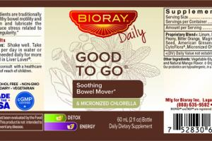 SOOTHING BOWEL MOVER & MICRONIZED CHLORELLA DAILY DIETARY SUPPLEMENT