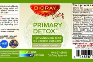 PRIMARY DETOX & MICRONIZED CHLORELLA DAILY DIETARY SUPPLEMENT