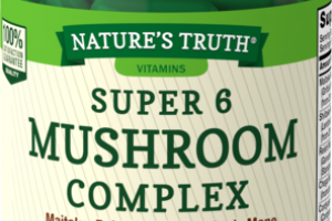 FULL SPECTRUM SUPER 6 MUSHROOM COMPLEX MAITAKE, REISHI, SHIITAKE, LION'S MANE, CORDYCEPS, & CHAGA MUSHROOMS DIETARY SUPPLEMENT CAPSULES