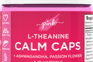 L-THEANINE CALM CAPS DIETARY SUPPLEMENT VEGGIE CAPS ASHWAGANGHA, PASSION FLOWER & CHAMOMILE
