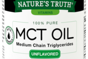 100% PURE MEDIUM CHAIN TRIGLYCERIDES DIETARY SUPPLEMENT MCT OIL UNFLAVORED