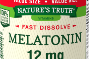 MELATONIN 12 MG DIETARY SUPPLEMENT FAST DISSOLVE TABS NATURAL BERRY