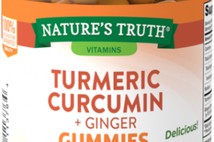 TURMERIC CURCUMIN + GINGER DIETARY SUPPLEMENT VEGAN GUMMIES