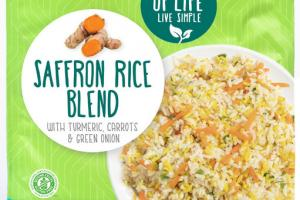 SAFFRON RICE BLEND WITH TURMERIC, CARROTS & GREEN ONION