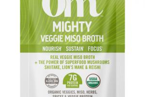 MIGHTY REAL VEGGIE MISO BROTH NOURISH SUSTAIN FOCUS + THE POWER OF SUPERFOOD MUSHROOMS SHIITAKE, LION'S MANE & REISHI MUSHROOM SUPERFOOD DIETARY SUPPLEMENT POWDER DRINK MIX