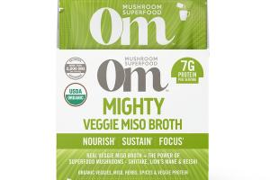 MIGHTY VEGGIE MISO BROTH NOURISH SUSTAIN FOCUS DIETARY SUPPLEMENT POWDER DRINK MIX PACKETS