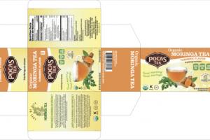 TURMERIC FLAVOR ORGANIC MORINGA TEA TEA BAGS