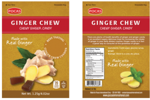 GINGER CHEW CHEWY GINGER CANDY