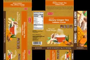 INSTANT HONEY GINGER TEA TURMERIC FLAVOR