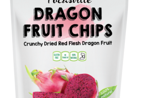 CRUNCHY DRIED RED FLESH DRAGON FRUIT CHIPS