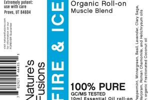 100% PURE ORGANIC ESSENTIAL OIL ROLL-ON MUSCLE BLEND FRUIT & ICE