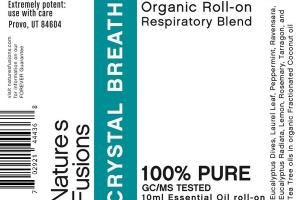 CRYSTAL BREATH ORGANIC RESPIRATORY BLEND 100% PURE ESSENTIAL OIL ROLL-ON