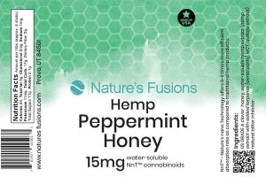 PEPPERMINT HEMP HONEY WATER-SOLUBLE CANNABINOIDS 15 MG