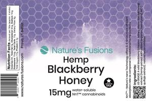 BLACKBERRY HEMP HONEY WATER-SOLUBLE CANNABINOIDS 15 MG