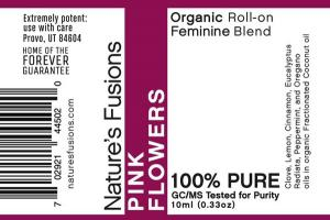 ORGANIC FEMININE BLEND ROLL-ON, PINK FLOWERS