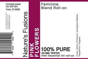 FEMININE BLEND ESSENTIAL OIL ROLL-ON, PINK FLOWERS