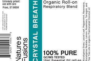 ORGANIC RESPIRATORY BLEND ESSENTIAL OIL ROLL-ON, CRYSTAL BREATH
