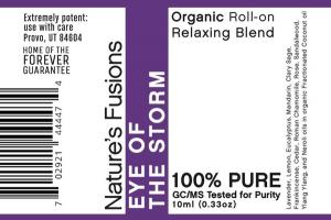 ORGANIC RELAXING BLEND ROLL-ON, EYE OF THE STORM