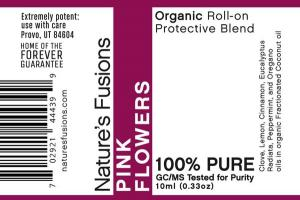 ORGANIC PROTECTIVE BLEND ROLL-ON, PINK FLOWERS
