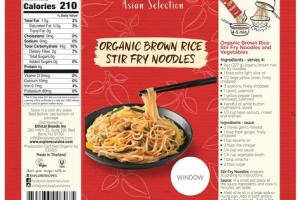 ORGANIC BROWN RICE STIR FRY NOODLES