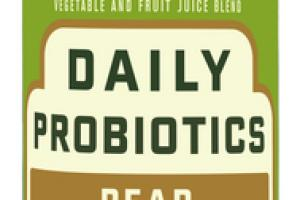 PEAR DAILY PROBIOTICS MORNING GREENS WITH KALE + GINGER COLD-PRESSED VEGETABLE AND FRUIT JUICE BLEND