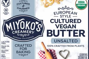 UNSALTED EUROPEAN STYLE CULTURED VEGAN BUTTER