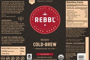 REISHI COLD-BREW ORGANIC ENERGIZING ELIXIR COLD-BREWED COFFEE, COCONUT-MILK & COCONUT MCTS