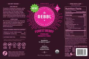 FOREST BERRY ORGANIC SPARKLING PREBIOTIC TONIC