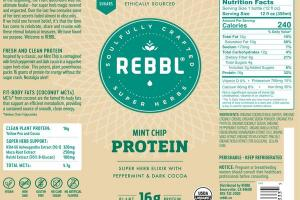 MINT CHIP PROTEIN ORGANIC SUPER HERB ELIXIR WITH PEPPERMINT & DARK COCOA