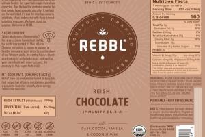 REISHI CHOCOLATE ORGANIC IMMUNITY ELIXIR WITH DARK COCOA, VANILLA & COCONUT-MILK
