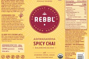 ASHWAGANDHA SPICY CHAI ORGANIC BALANCING ELIXIR WITH AYURVEDIC SPICES, ASSAM TEA & COCONUT-MILK