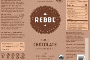 REISHI CHOCOLATE ORGANIC IMMUNITY ELIXIR WITH DARK COCOA, VANILLA & COCONUT-MILK