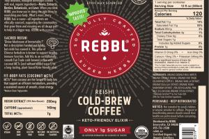 REISHI COLD-BREW COFFEE ORGANIC WITH COCONUT-MILK & MCTS