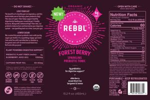 FOREST BERRY ORGANIC ELDERBERRY, ASSAM BLACK TEA, BERGAMOT & LEMON SPARKLING PREBIOTIC TONIC