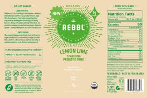 LEMON LIME ORGANIC SPARKLING PREBIOTIC TONIC