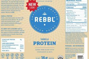VANILLA ORGANIC PROTEIN SUPER HERB ELIXIR WITH CINNAMON & MCTS