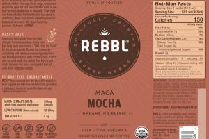 MACA MOCHA ORGANIC BALANCING ELIXIR WITH DARK COCOA, CHICORY & COCONUT-MILK (NO COFFEE)