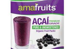ACAI PURE & UNSWEETENED ORGANIC FRUIT PACKS