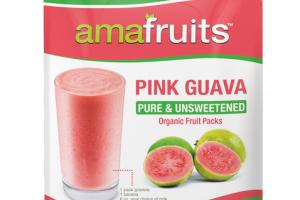 PINK GUAVA PURE & UNSWEETENED ORGANIC FRUIT PACKS