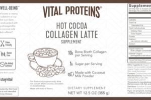 COLLAGEN LATTE DIETARY SUPPLEMENT HOT COCOA