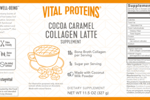 COLLAGEN LATTE DIETARY SUPPLEMENT COCOA CARAMEL
