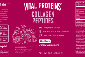COLLAGEN PEPTIDES SKIN, HAIR, NAIL + JOINT SUPPORT DIETARY SUPPLEMENT MIXED BERRY