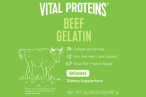 BEEF GELATIN DIETARY SUPPLEMENT UNFLAVORED