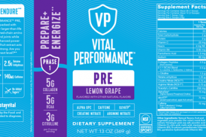 PRE PREPARE+ENERGIZE DIETARY SUPPLEMENT LEMON GRAPE