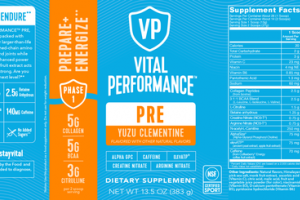 PRE PREPARE+ENERGIZE DIETARY SUPPLEMENT YUZU CLEMENTINE