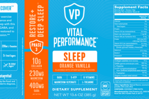 SLEEP DIETARY SUPPLEMENT ORANGE VANILLA