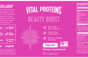BEAUTY BOOST SKIN, HAIR + NAIL SUPPORT** DIETARY SUPPLEMENT CAPSULES