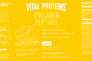 COLLAGEN PEPTIDES SKIN, HAIR, NAIL + JOINT SUPPORT DIETARY SUPPLEMENT VANILLA