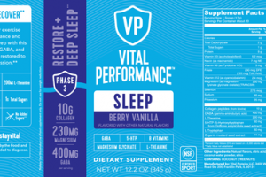 SLEEP DIETARY SUPPLEMENT BERRY VANILLA