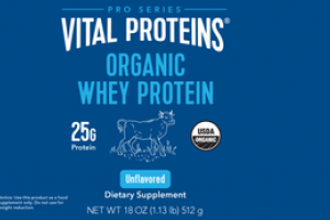 ORGANIC WHEY PROTEIN DIETARY SUPPLEMENT UNFLAVORED